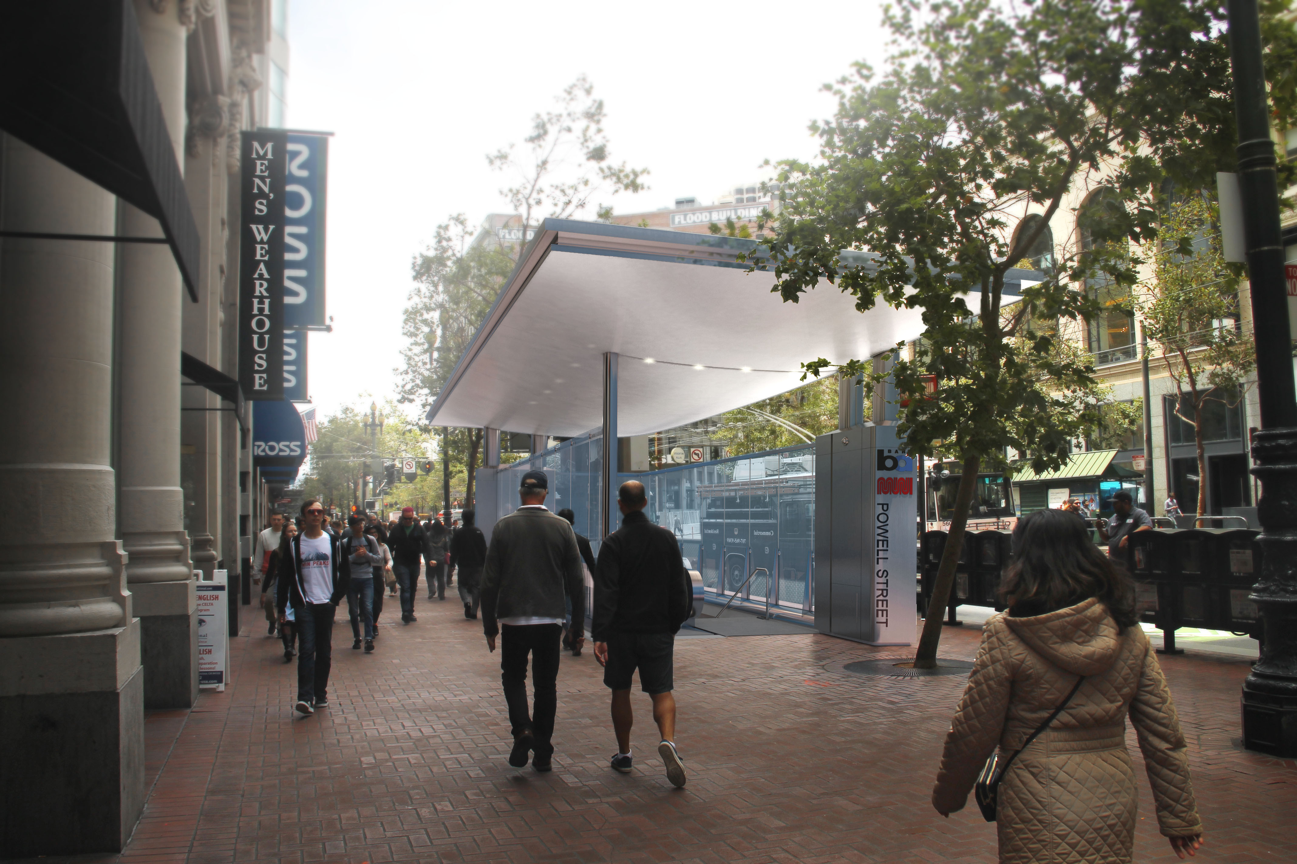 BART Street Entry Canopy, Powell St. and Civic Center Stations